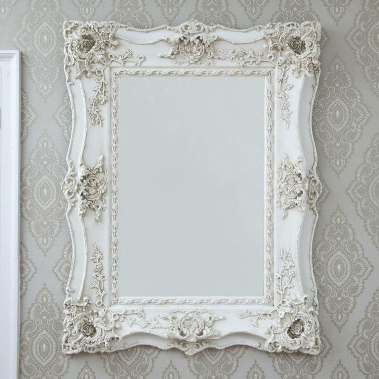 Vintage mirror frames for Espejo marco blanco