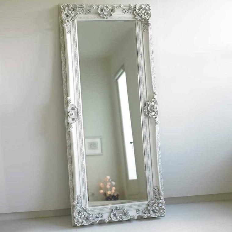 Espejos vintage de estilo rom ntico m s de 30 dise os for Espejo grande blanco