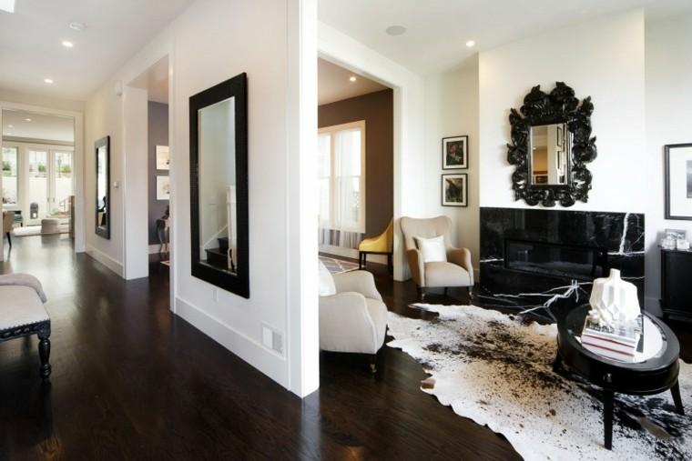 Chimeneas modernas ideas para salones modernos - Chimeneas decoradas ...