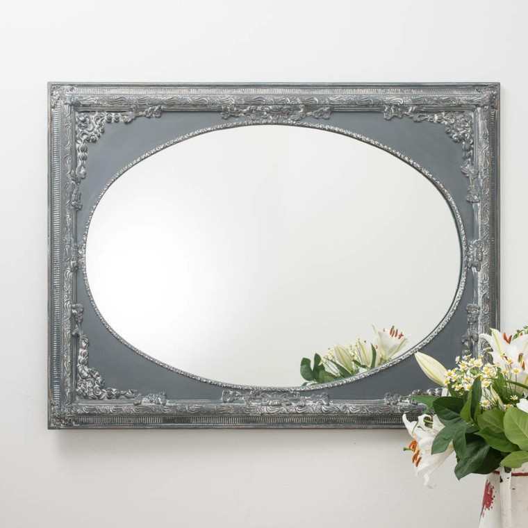 Espejos vintage de estilo rom ntico m s de 30 dise os for Espejo ovalado de pie