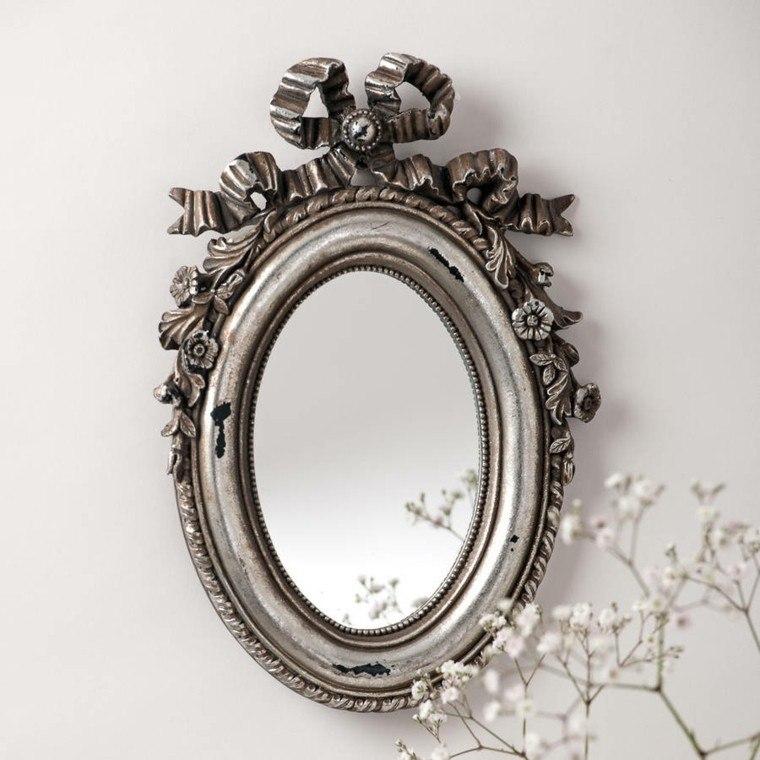 espejo pared lazo estilo retro