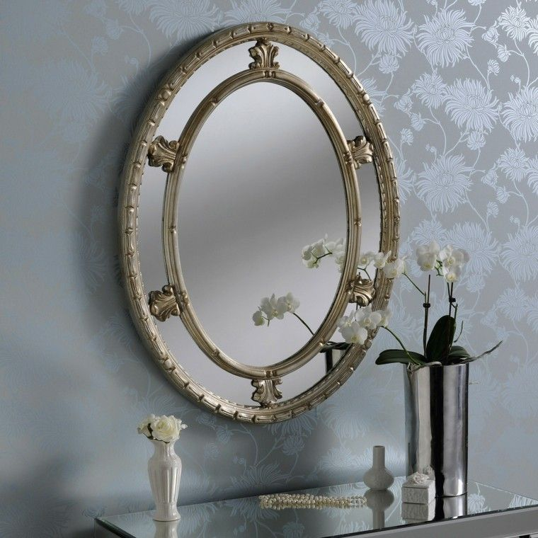 Espejos vintage de estilo rom ntico m s de 30 dise os for Espejo vintage plateado