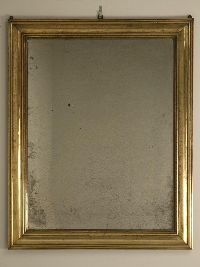 espejo retro vintage marco dorado