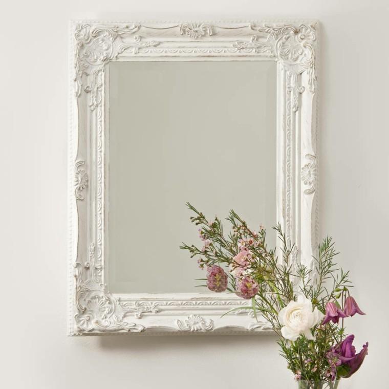 espejos estilo vintage color blanco