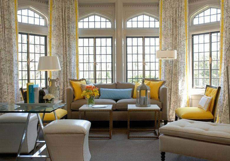 estampado cortinas flores grises