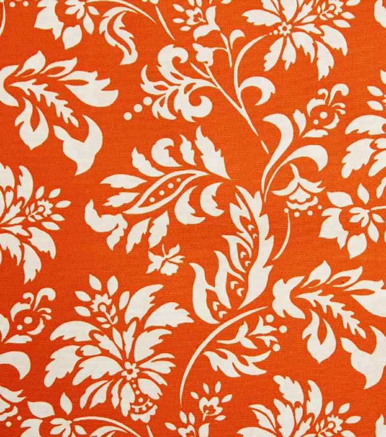 estampados flores color tela naranja