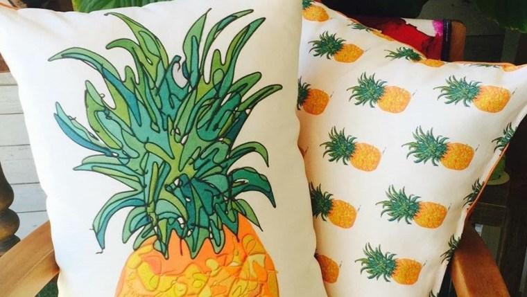 funny pineapple print design cushions