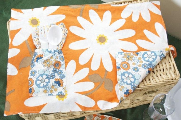 estampados telas jardín color naranja