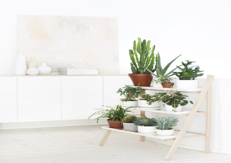mueble estanterias deco plantas