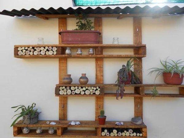 estructura estanterías decorar pared
