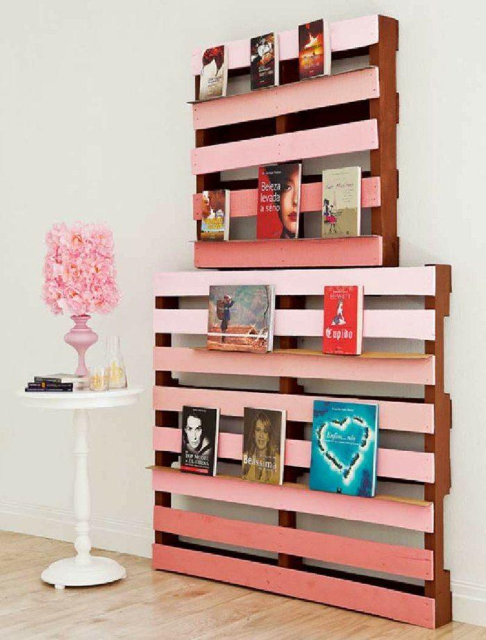 Palet de madera para decorar su hogar 100 ideas - Estanterias para palets ...
