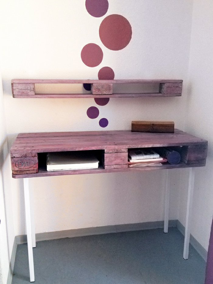 estantes escritorio suspendido pared