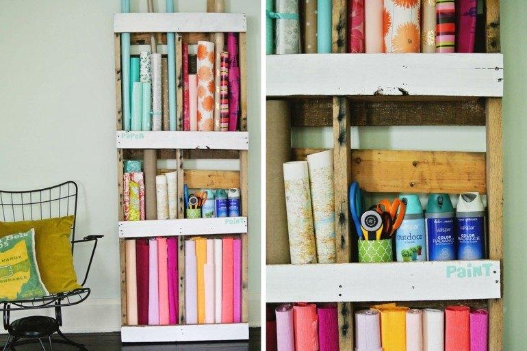 estantes biblioteca amdera pallet