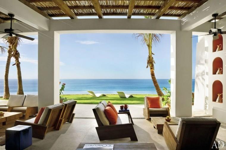 estupenda terraza vistas mar