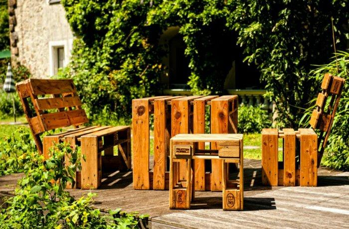 conjunto muebles palets madera