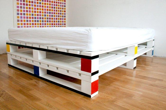 cama moderna diseño palet