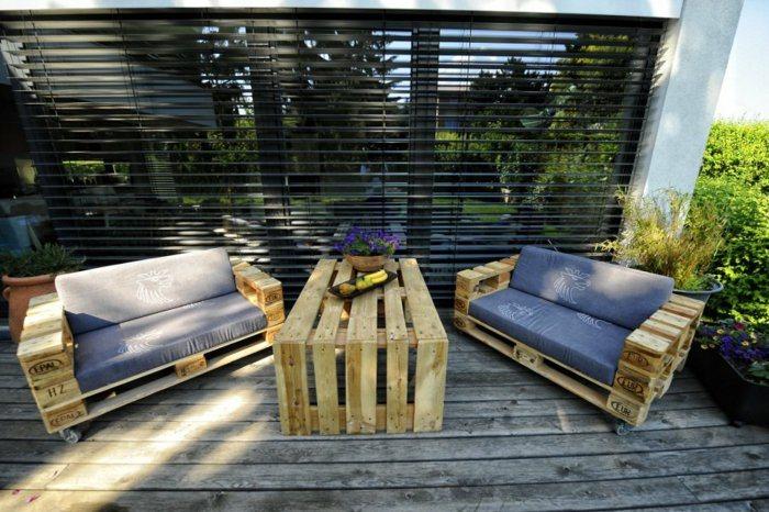 conjunto sillones mesa pallet