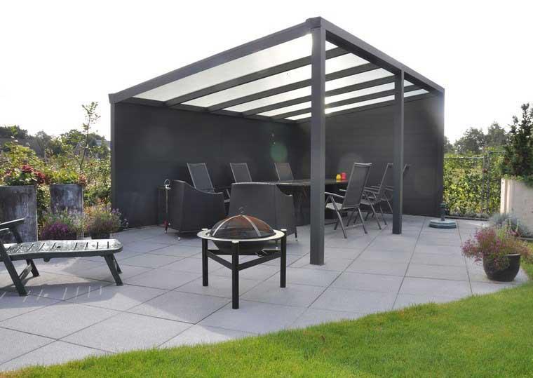 gazebos diseño moderno color negro