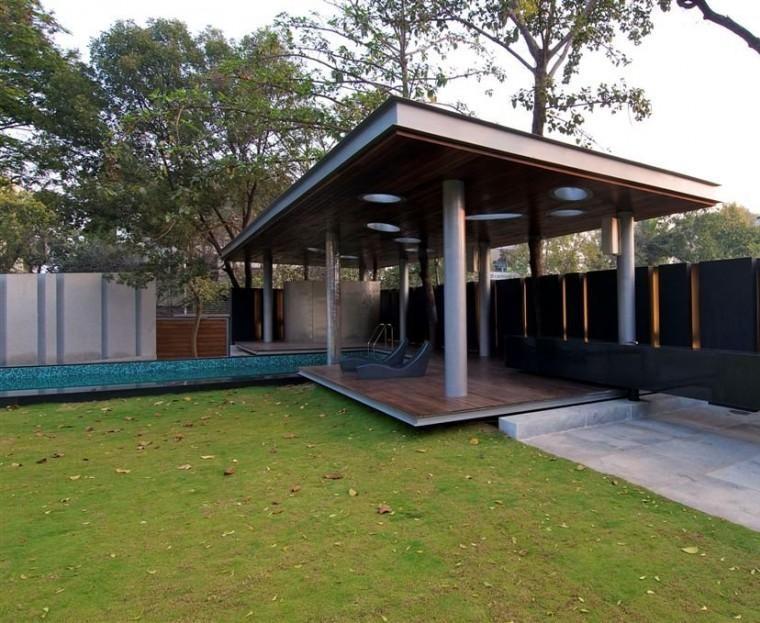 diseño jardin pergola obran