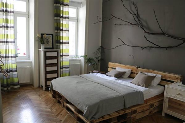 cama matrimonio palet madera