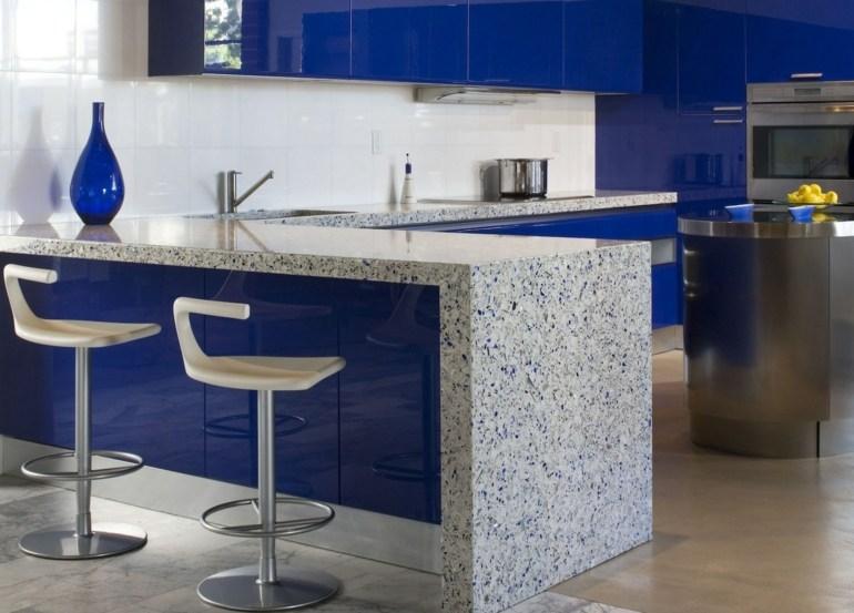 diseño cocina color azul