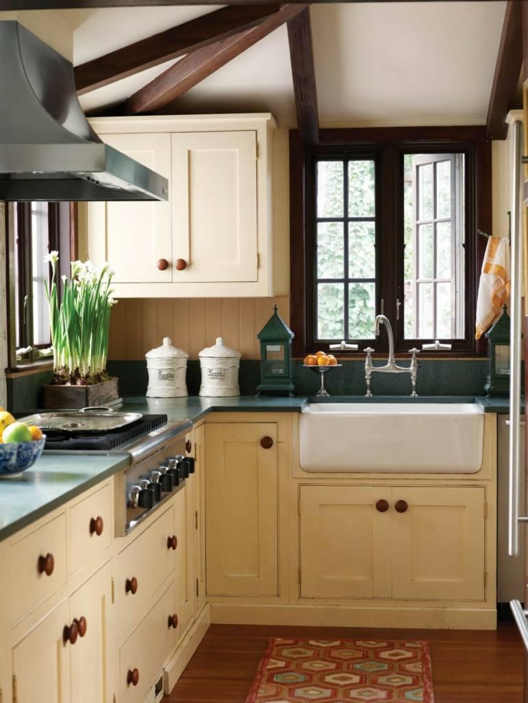 bonito diseño cocina muebles retro