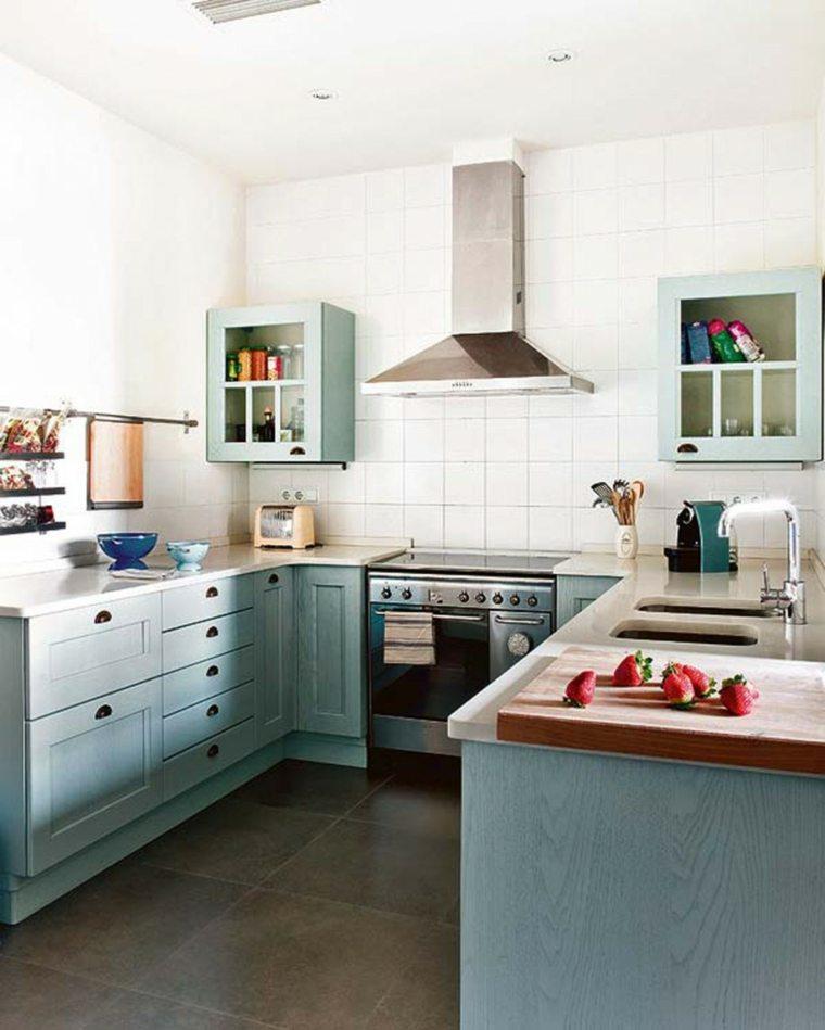 diseños de cocinas pequeñas en U