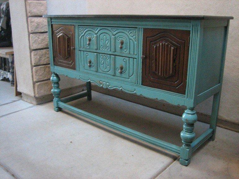 estupenda comoda color azul vintage