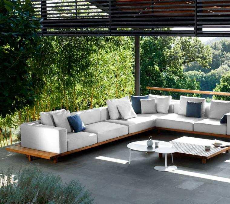 amueblado moderno porche terraza