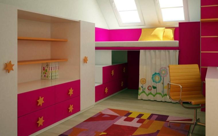 estupenda habitacion colores deco rosados