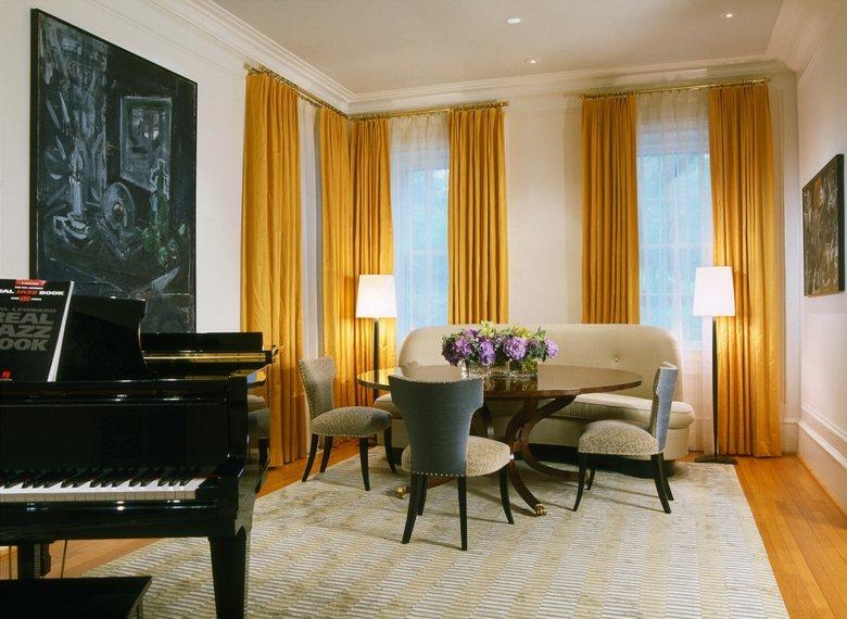 Cortinas de sala y comedor colores y estampados for Visillos para salon comedor