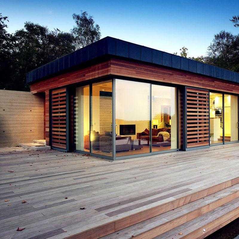 porche terraza escalones madera