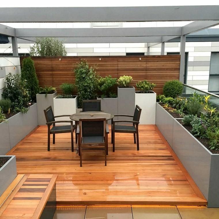 estupenda terraza pequeña moderna suelo