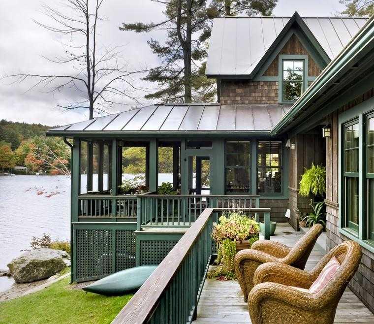 terraza porche vistas lago
