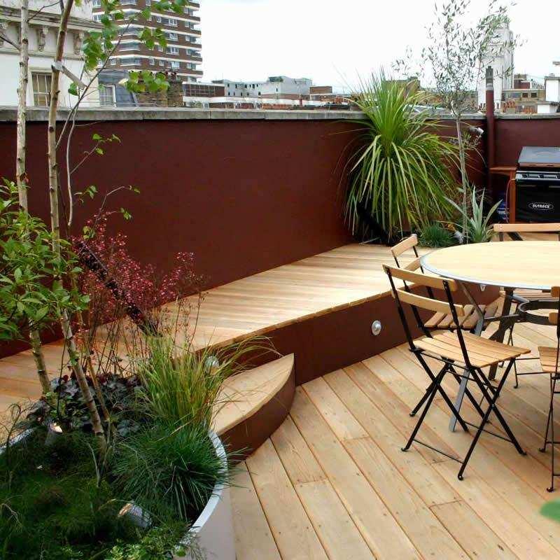 tarimas gradas terrazas madera