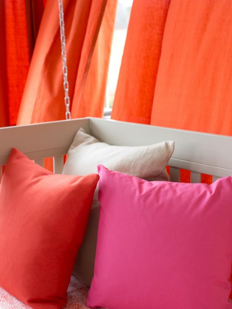 estupendas telas colores lisos rojos