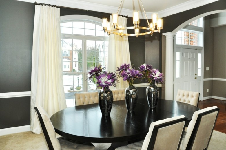 estupendo comedor diseño elegante cortinas