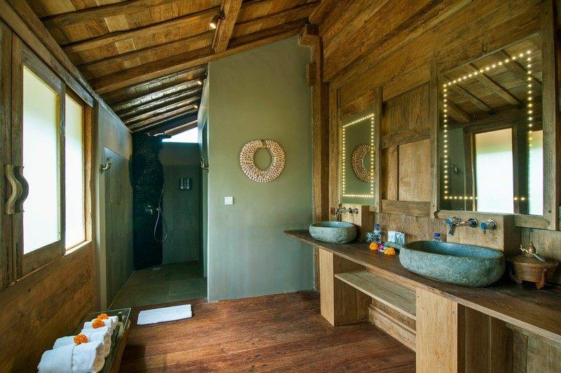 estupendo diseño cuarto baño tropical