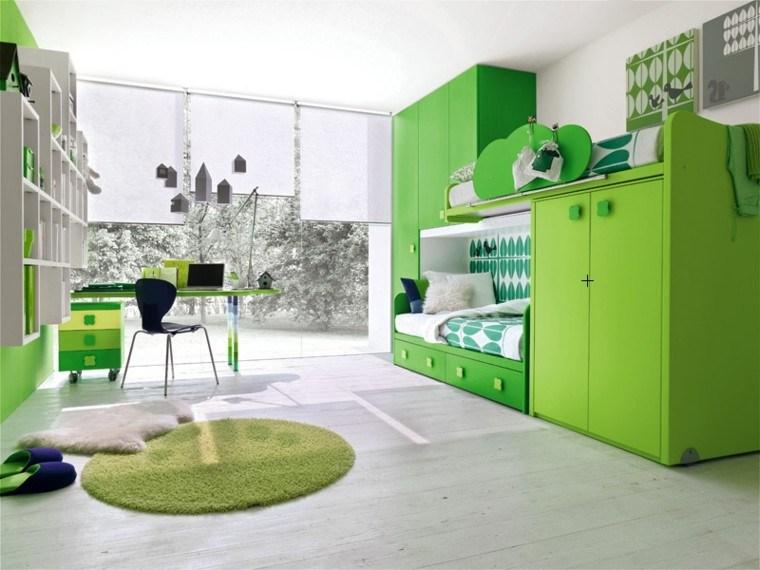 estupendo diseño cuarto infantil verde