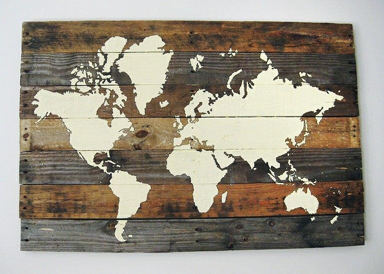 estupendo diseño mapa pallet