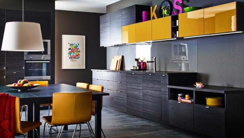 estupendo diseño cocina muebles amarillos