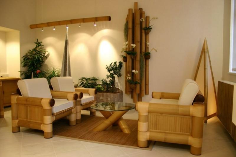 estupendo diseño muebles bambú