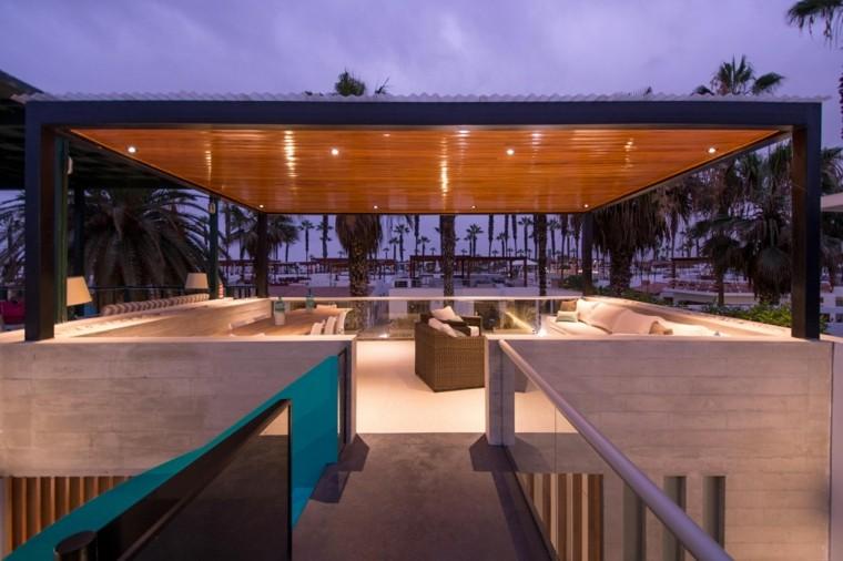 estupendo diseño pergola moderna terraza