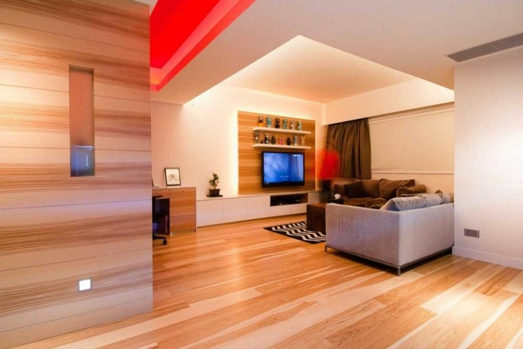 estupendo diseño sala estar madera