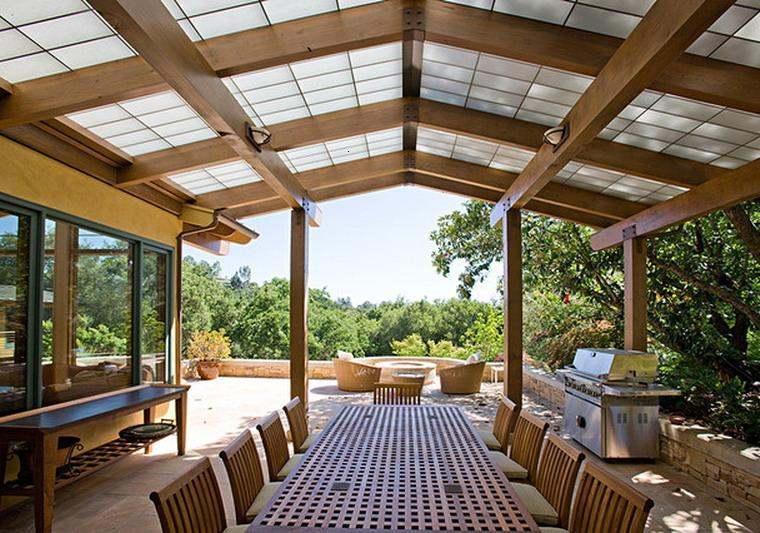 salón comedor cubierta moderna