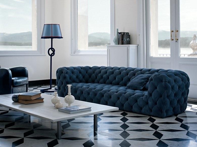 estupendo diseño sofa Chester azul