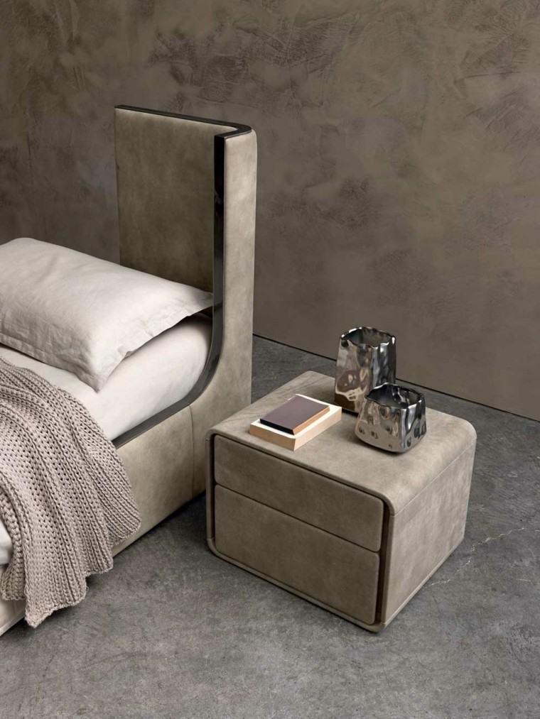 estupendo diseño mesilla noche cemento
