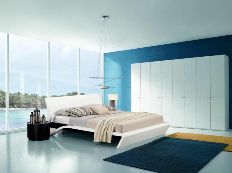 estupendo diseño pared color azul