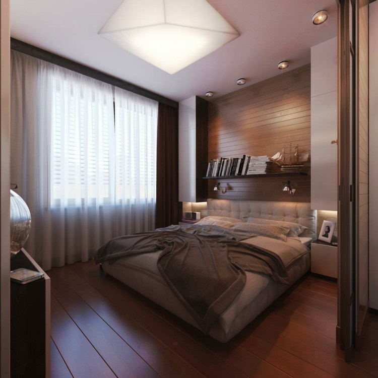estupendo diseño dormitorio listones madera