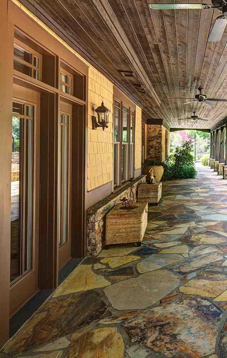 cubierta madera estilo rústico